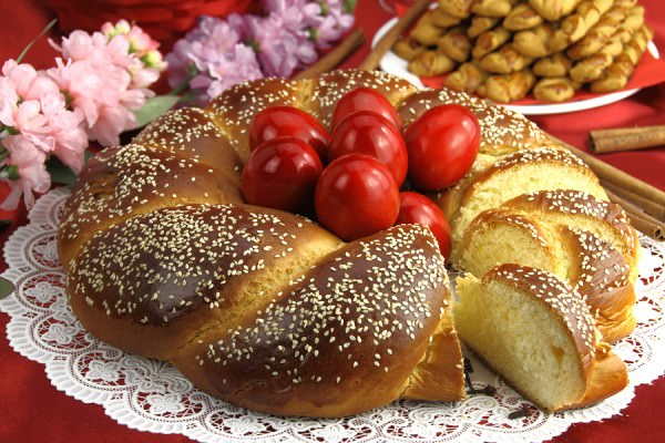 bigstock-Easter-sweet-bread-with-red-eg-42402808