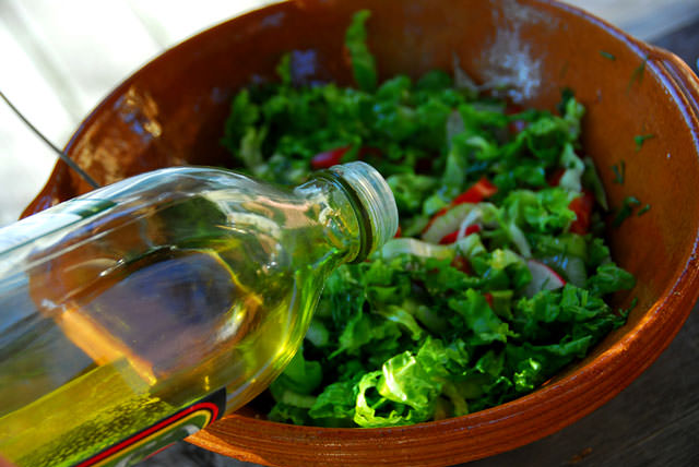 bigstock-Garden-Salad-And-Olive-Oil-593241