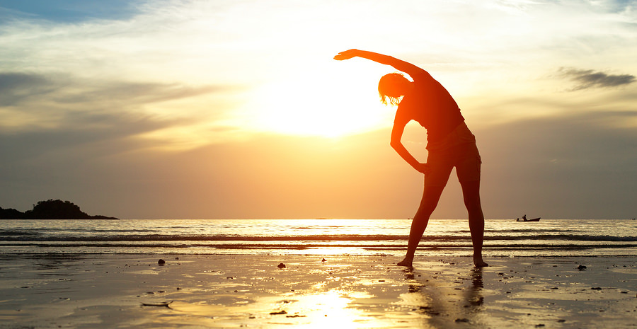 bigstock-Silhouette-young-woman-exerci-44699050