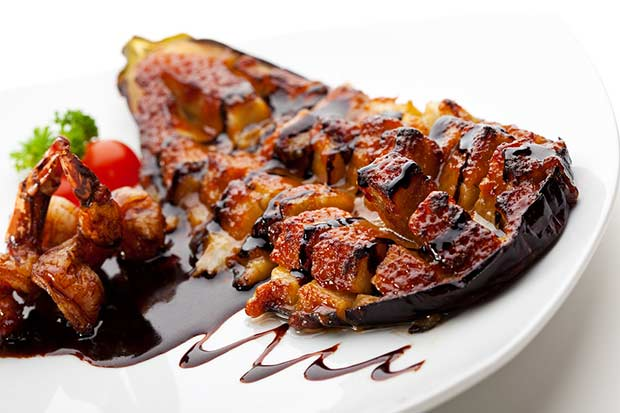 bigstock-Baked-Eggplant-with-Shrimps-an-44179828