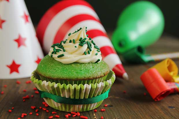 bigstock-Green-Birthday-Cupcake-44175634