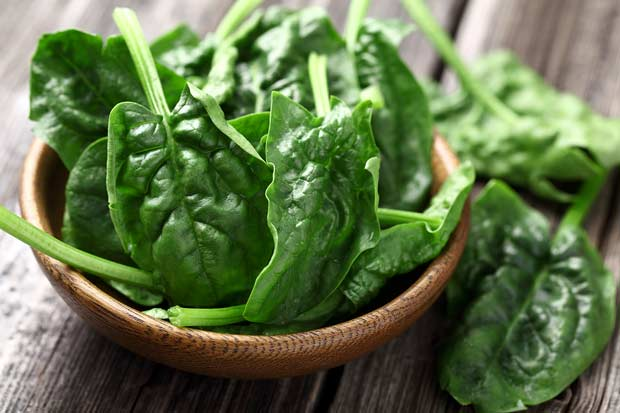 bigstock-Spinach-leaves-in-a-wooden-pla-44027485