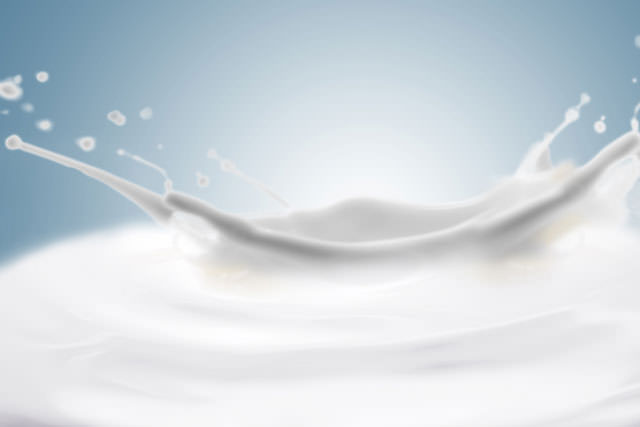 Fantastical milk background. Drops, waves, splashes.